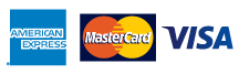 Visa Master Card and AMEX logos